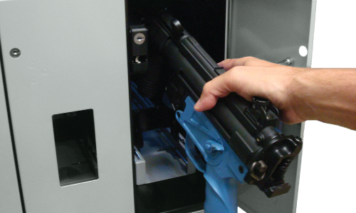 Smart weapons cabinet with RFID